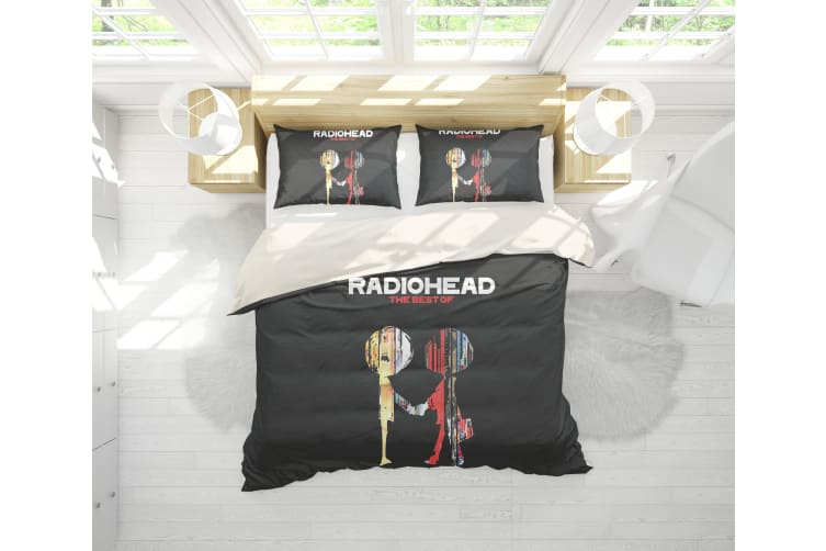 3D Band Radiohead Quilt Cover Set Bedding Set Pillowcases 60-Double