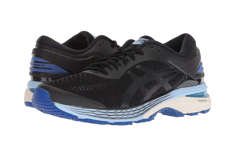 ASICS Women's Gel-Kayano 25 Running Shoe (Black/Blue, Size 10)