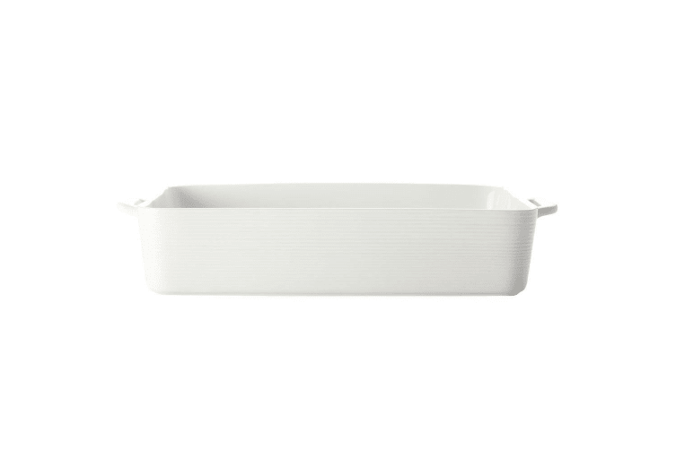 Casa Domani Casual White Evolve 32 x 22cm Rectangle Baker Porcelain Baking Dish
