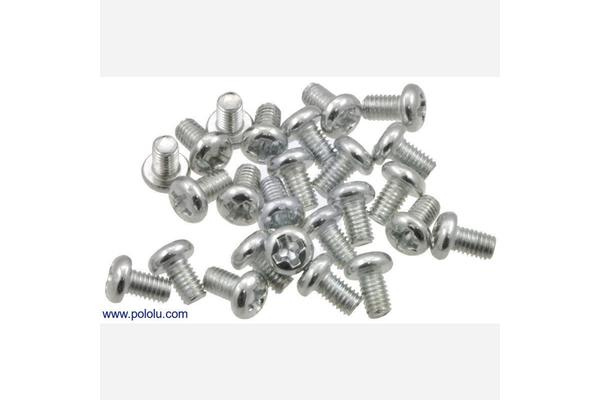 Machine Screw: M3, 5mm Length, Phillips (25-pack)