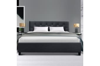 Artiss Double Full Size Bed Frame Base Mattress Fabric Wooden Charcoal