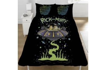 Rick And Morty Official UFO Space Ship Reversible Duvet (Multicoloured) (Single)