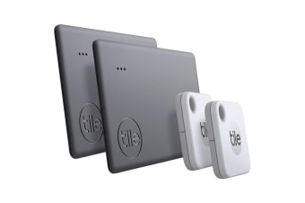 Tile Mate & Tile Slim Bluetooth Tracker (2020) - 4 Pack
