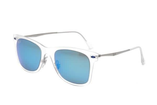 Ray-Ban RB4210 - Transparent Matte (Green Mirror Blue lens) Mens Sunglasses