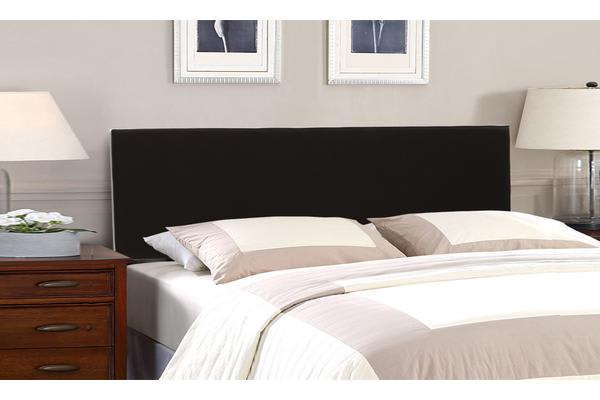 Bed Frame Headboard PU Leather Wooden Slat KING