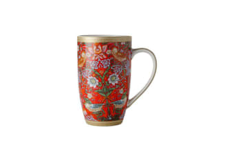 Maxwell & Williams William Morris Strawberry Thief Coupe Mug 420ml Red