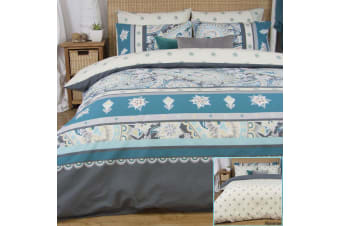 Reversible Quilt Cover Set Celia by Apartmento SINGLE DOUBLE QUEEN KING Bedding