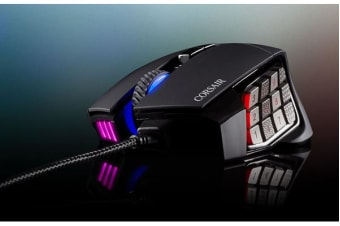 Corsair 'SCIMITAR' PRO RGB Optical MOBA/MMO Gaming Mouse - Black/Silver