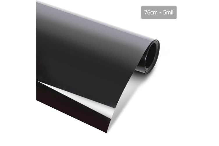 Giantz Window Tint Film Black Commercial Car Auto House Glass 76cm X 7m VLT 5%