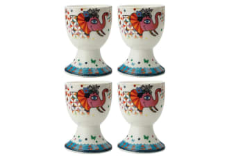 4pc Maxwell & Williams Smile Style Egg Cup Holder Hard Boiled Stand Set Princess