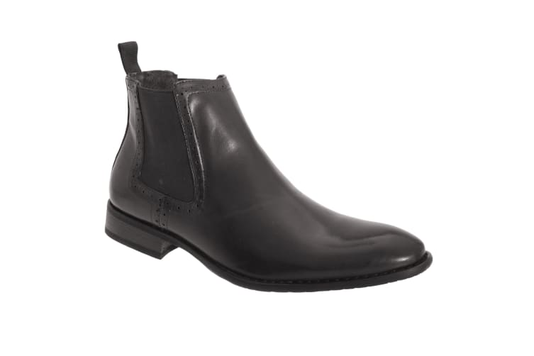 Route 21 Mens Twin Gusset Ankle Boots (Black) (9 UK)