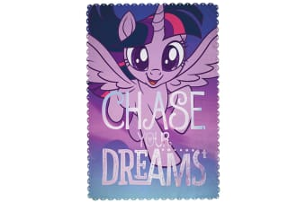 My Little Pony Movie Adventure Fleece Blanket (Purple) (One Size)