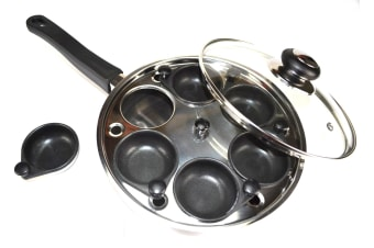 6 Cup Stainless Steel Egg Poacher