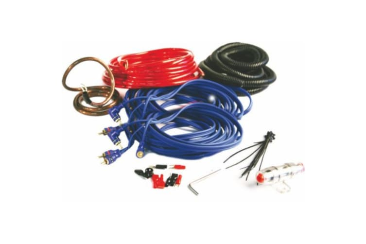 8 Awg 450w max Amp Wiring kit 4CH 5.5M Red Power Cable with O-Ring Terminal