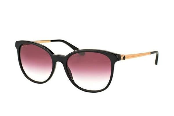 Bvlgari BV8160 54mm - Black (Violet Shaded lens) Womens Sunglasses