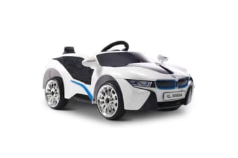 BMW i8 Style Electric Toy Car (White)