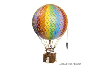 Ornamental Vintage Hot Air Balloons - Large Rainbow