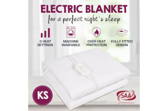 King Single Size Fully Fitted Non Woven Electric Blanket Heated Pad