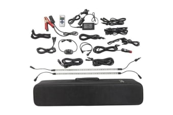 TechBrands Portable 2000 Lumen 4 Bar LED Camping Kit (12/240V)