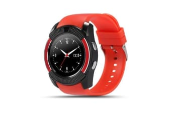 "TODO Bluetooth V3.0 Smart Watch 1.22"" Hd Lcd Rechargeable 3Mp Camera - Red"