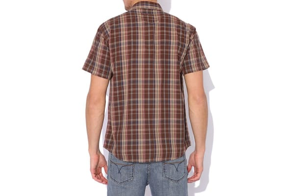 Elwood Men's Pop Plaid Shirt (Barley, X-Large)