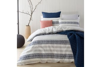 Sass Denim Yarn Dyed Cotton Quilt Cover Set Queen by Designers Choice