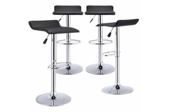 4x PU Leather Swivel Bar Stools Kitchen Dining Chair Gas Lift Adjustable Barstool