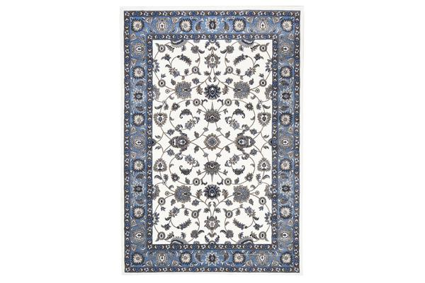 Classic Rug White with Blue Border 290x200cm