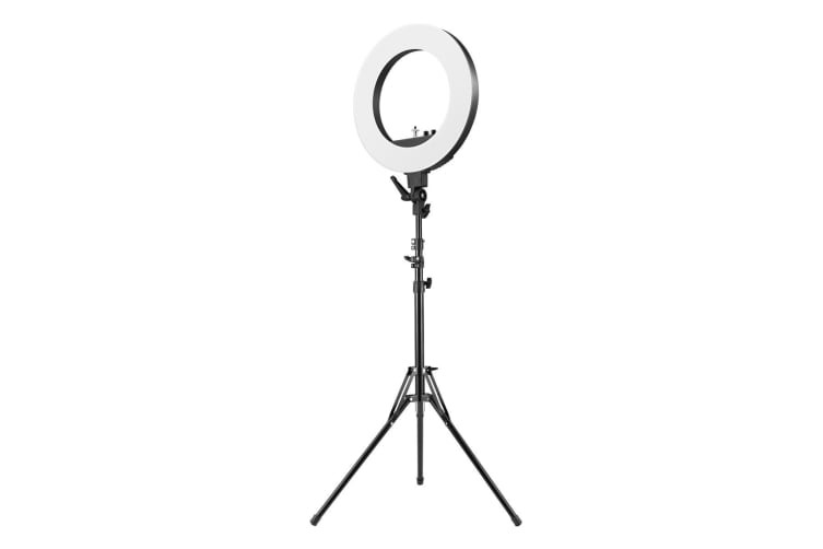 """18"""" 5900K Dimmable Diva Ring Light LED Diffuser Stand Phone Camera Selfie Shoot"""
