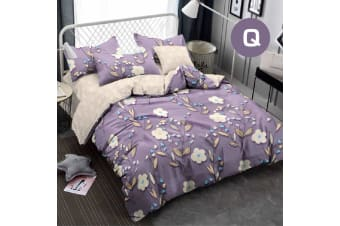 Queen Size LILAC PATIO Design Quilt Cover Set