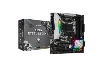 ASRock B450M Steel Legend mATX motherboard For AMD Ryzen 2nd/3rd Gen
