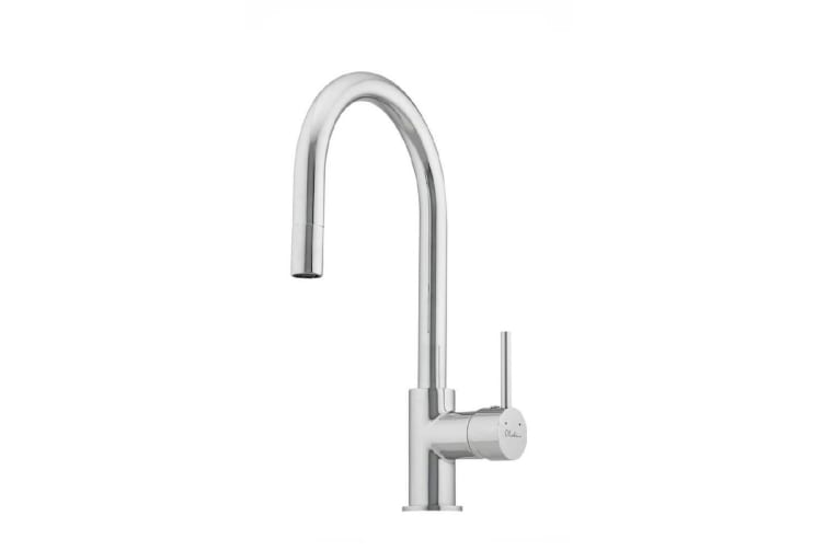 Oliveri Essentials Pull Out Gooseneck Sink Mixer Chrome ES520-P
