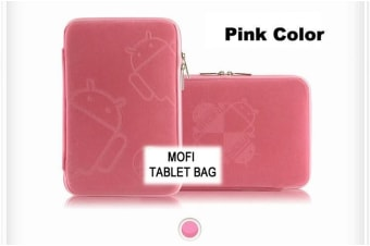 Leader Electronics Tablet 10' MofiZip Case Pink Andriod logo. Suit any 10' tab