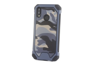 3-In-1 Protective Cover For Camouflage Mobile Phone Case For Huawei Blue Huawei P20