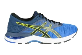 ASICS Men's Gel-Flux 5 Running Shoe (Directoire Blue/Black/Safety Yellow, Size 12.5)
