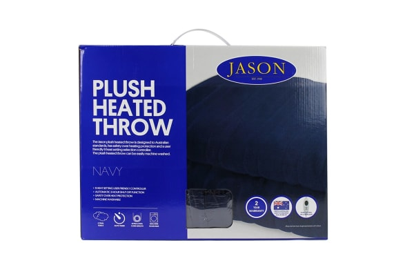 Jason Plush Heated Throw (Navy)