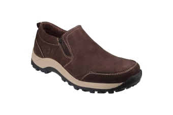 Cotswold Mens Sheepscombe Slip On Twin Gusset Shoes (Brown)