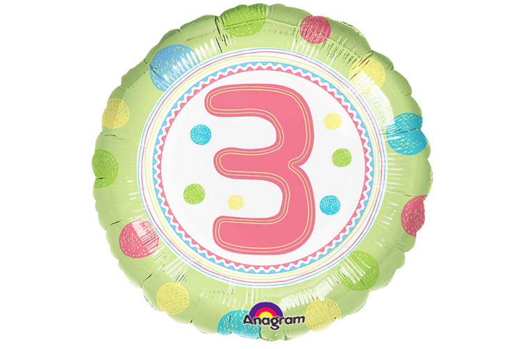 Anagram 18 Inch SpotOn Birthday Age Circle Foil Balloon (Multicoloured) (Age 8)