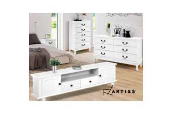 Artiss 6 Chest of Drawers Dresser Tallboy Lowboy Storage Cabinet White KUBI