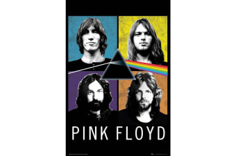 Pink Floyd Band Poster (Multicolour)