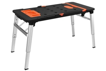Portable Work Bench Platform Table DIY Tool Station Hand Truck Trolley Sawhorse Creeper Multifunction Compact Workbench