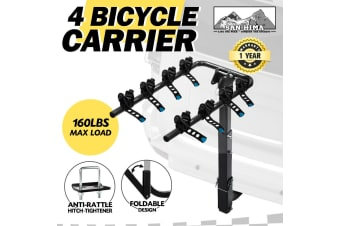 "SAN HIMA Bike Carrier 4 Bicycles Car Rear Rack 2"" TowBar Hitch Mount Foldable"