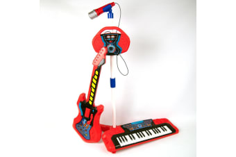 Beat Bop Kids 3 in 1 Live Band including Keyboard, Guitar and Recording Microphone
