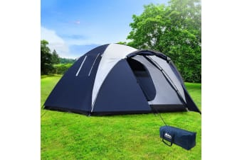Camping Tent 4 Person Hiking Beach Tents Canvas Swag Family