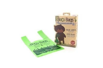 Beco Plastic Dog Poop Bags With Handles (Green) (Pack Of 120)