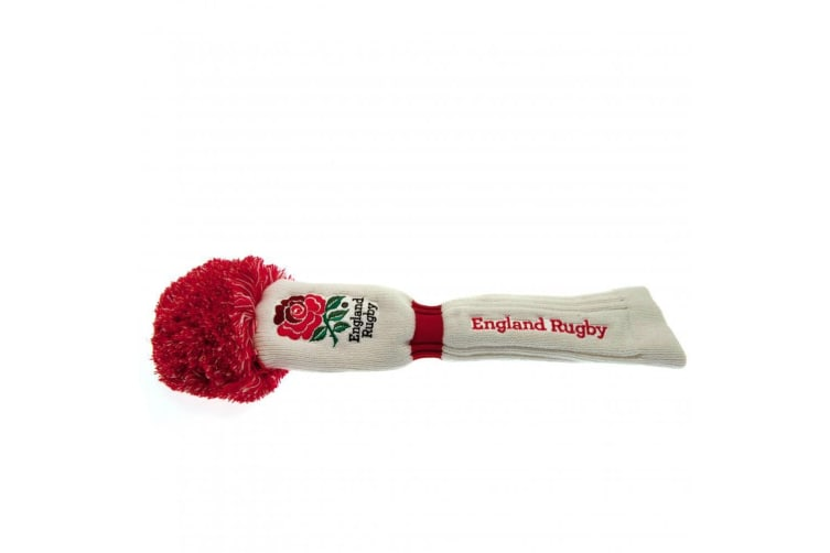 England Rugby Official WT Driver Pompom Headcover (White) (One Size)