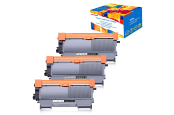 3pc Compatible TN2250 Toner Cartridge for Brother MFC-7860DW MFC-7362N MFC--7360