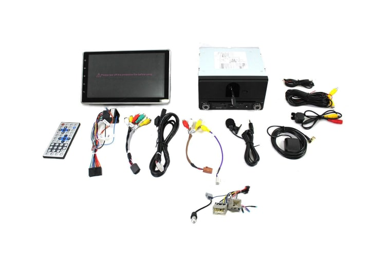 """Elinz Nissan 10.1"""" In Dash Car DVD Player Android 8 Double 2 DIN T3 Harness"""
