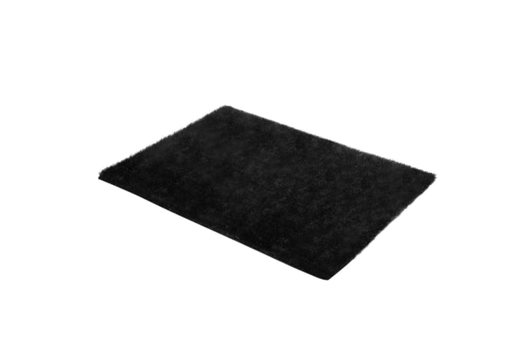 120x160cm Fluffy Shaggy Rug Shag Area Soft Dark Grey Carpet Home Bedroom Anti-Slip Floor Mat