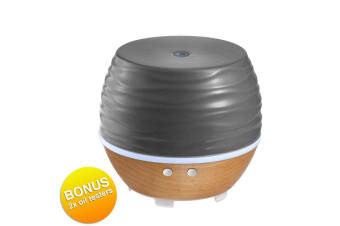 Homedics Ellia Ascend Ultrasonic Lights Aromatherapy Essential Oil Diffuser GRY